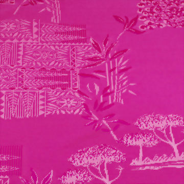 Polyester/Spandex Jacquard Fabric with 3-D Texture