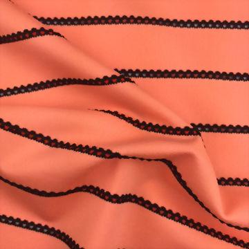 Polyester/Spandex Stripe Jacquard Fabric