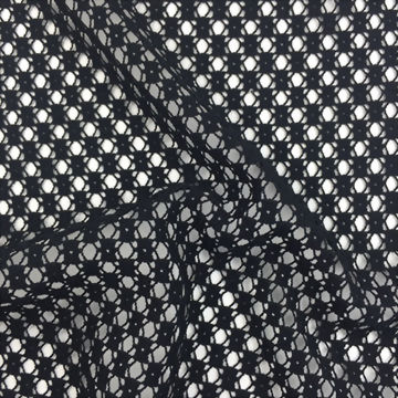 100% Polyester Knitted Jacquard Lace Fabric