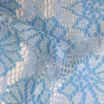 Polyester/Spandex Warp Knit crochet fabric