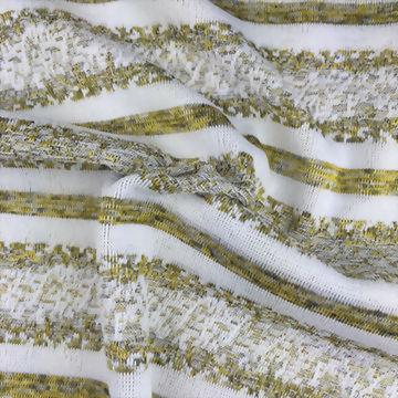 Polyester/Spandex Jacquard Heather Stripe Fabric