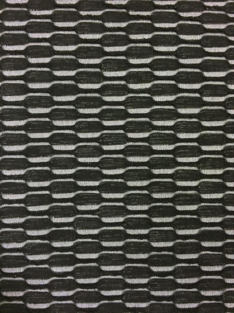 100% Poly ripple pattern Jacquard