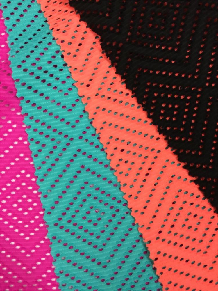 Polyester/Spandex Jacquard crochet