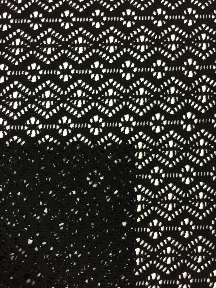 100% Poly small diamond pattern Jacquard
