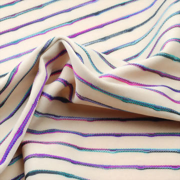 Polyester/Spandex Yarn Dyed Jacquard Fabric