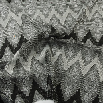 Polyester/Rayon Yarn Dye Jacquard Fabric