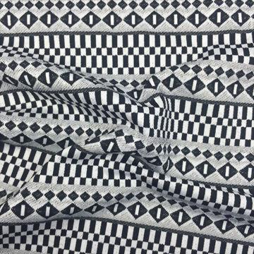 Polyester/Spandex Knitted Yarn-Dye Jacquard Fabric