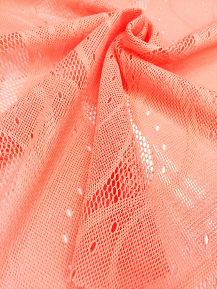 Polyester/Spandex Knit Crochet Fabric