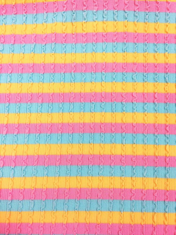 Polyester/Spandex Knit Rib Fabric