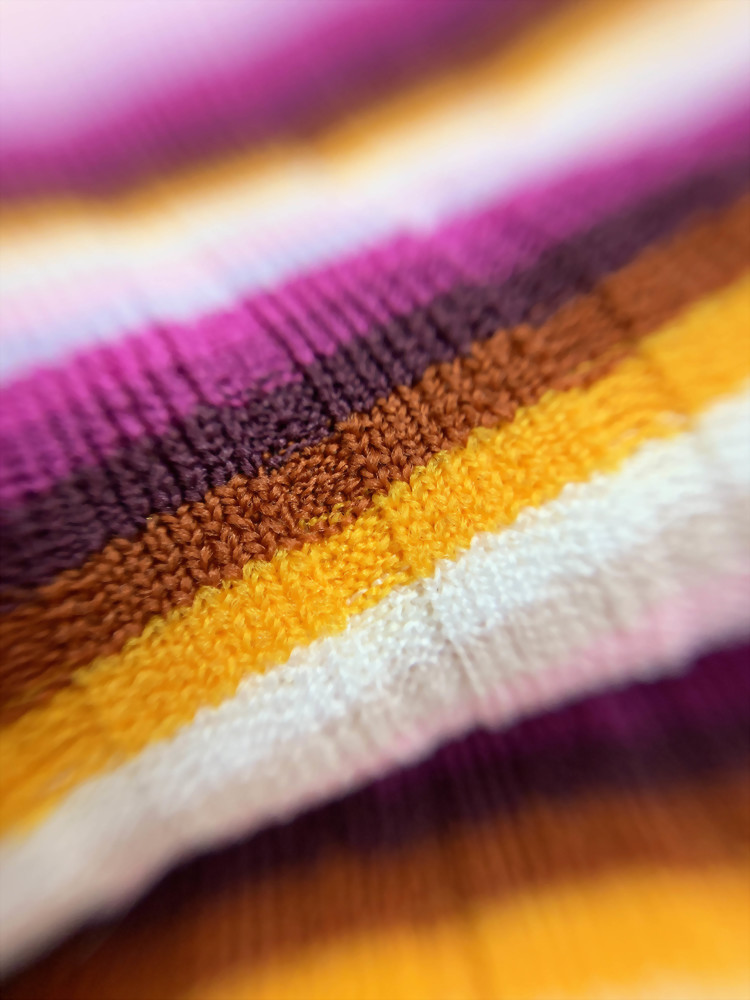 Polyester Spandex Knitted Rib Stripe Fabric