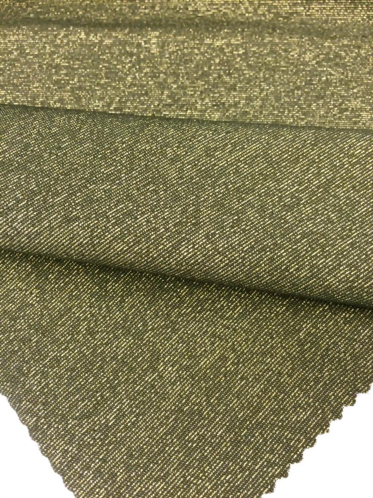 Nylon /Spandex/ Lurex Knitted yarn dye Jersey Fabric
