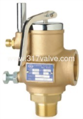 FULL BORE BRONZE SAFETY RELIEF VALVE SCREWED END