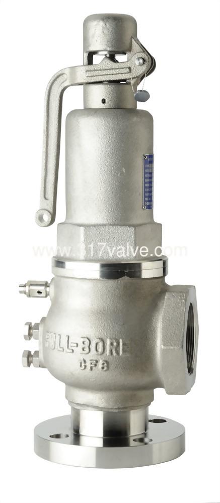 FULL BORE SUS304 SAFETY RELIEF VALVE FLG*SCW (SVF-16SLR/SVPF-16SLR)