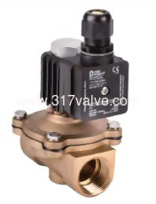 DIRECT, MULTIPLEX, CONNECTED DIAPHRAGM CONDUCTIVE AND NORMLLLY CLOSED FORGED BRASS SOLENOID VALVE 3/8 (PKW OF EXPLOSION PROOF EX II2 G EX E MB IIC T4 GB Series)