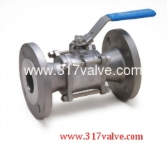 3-PC INVESTMENT CASTING BALL VALVE FLANGED END (V-3F/V-3FC)