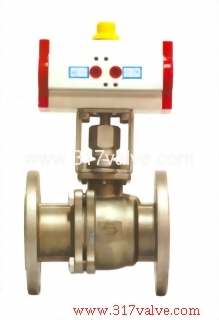 PNEUMATIC ACTUATED BALL VALVE (STD DOUBLE ACTING) (NUD-BV34F)