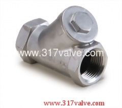 STAINLESS STEEL Y-SPRING CHECK VALVE CLASS 600 SCREWED END (YC-316)