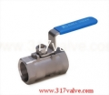 (BV-1P6/BV-1PC) 1-PC INVESTMENT CASTING BALL VALVE (REDUCING BORE) 1000 WOG