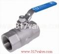 (BV-2P6-20H/BV-2PC-20H) 2-PC STANDARD PORT BALL VALVE