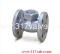 (DG-112) DUCTILE IRON LIFT CHECK VALVE FLANGED END CLASS 10K 1/2~2