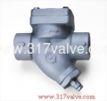 (ST-T3B) CAST IRON STEAM TRAP 16K WITH BLOW-OFF SCREWED END