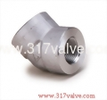 (FG-ELB45-TH) HIGH PRESSURE PIPE FITTING ELBOW 45 DEG