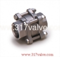(V3WC) STAINLESS STEEL 316 3-PC WAFER DISC CHECK VALVE