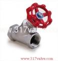 (YG-316) STAINLESS STEEL Y-GLOBE VALVE CLASS 600