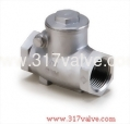 (SS-209) STAINLESS STEEL SWING CHECK VALVE CLASS 600 SCREWED END