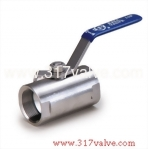 (BV-316/BV-304) BAR STOCK 1-PC BALL VALVE  (REDUCING BORE) 800 WOG
