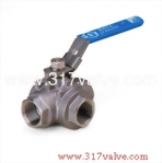 (BV-3ASL/BV-3AST) 3-WAY INVESTMENT CASTING BALL VALVE L-PORT / T-PORT