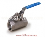 (BV-3CSL) 2-PC 3-WAY BALL VALVE (WITH MOUNTING PAD) 1000 WOG