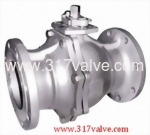 (BV-23F/BV-27F/BV-44F/BV-46F) 2-PC BALL VALVE FLANGED END TO ANSI CLASS 150