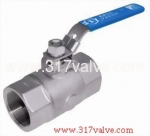 (BV-2P6-20H/BV-2PC-20H) 2-PC STANDARD PORT BALL VALVE