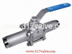 (BV-3PL) 3-PC EXTENDED BUTT WELD BALL VALVE