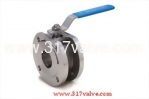 (V-1FW/V-1FW04.V-1FW-C) 1-PC WAFER TYPE (FULL BORE) BALL VALVE
