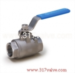 (V-2/V2C) 2-PC INVESTMENT CASTING BALL VALVE 1000 WOG