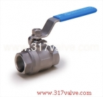 (V-2E/V-2EC) 2-PC INVESTMENT CASTING BALL VALVE 1000 WOG ECONOMIC TYPE