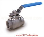 (V-2IM / V-2IMC) 2-PC MOUNTING PAD INVESTMENT CASTING BALL VALVE 800 WOG