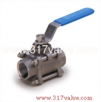 (V-3 / V-3C) 3-PC MOUNTING PAD INVESTMENT CASTING BALL VALVE