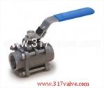 (V-3E / V-3EC) 3-PC INVESTMENT CASTING BALL VALVE 1000 WOG ECONOMIC TYPE