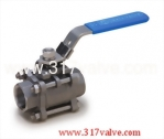 (V-3M / V-3MC) 3-PC MOUNTING PAD INVESTMENT CASTING BALL VALVE