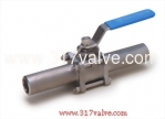 (V-3L / V-3LC) 3-PC INVESTMENT CASTING BALL VALVE LONG BUTT WELDED END