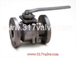 (V-2F/V-2FC) 2-PC INVESTMENT CASTING BALL VALVE FLANGED END