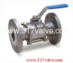 (V-3F/V-3FC) 3-PC INVESTMENT CASTING BALL VALVE FLANGED END