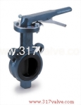 (BF-26N/26S/26M/28G/28S/28M) CAST IRON BUTTERFLY VALVE WAFER TYPE LEVER & GEAR OPERATED