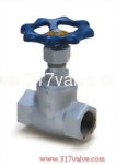 (DG-160 / DG-161) DUCTILE IRON GLOBE VALVE CLASS 10K SCREWED END (SUS410 DISC/PTFE DISC)