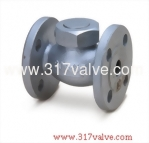 (DG-208) DUCTILE IRON LIFT CHECK VALVE FLANGED END CLASS 20K 1/2