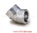 (FG-ELB45-SW) HIGH PRESSURE PIPE FITTING ELBOW 45 DEG