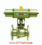 (NUS-BV34F) PNEUMATIC ACTUATED BALL VALVE (STR SINGLE ACTING)